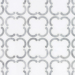 Belle Epoque Quatrefoil | Azulejos de pared de piedra natural | Claybrook Interiors Ltd.