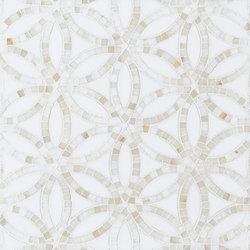 Belle Epoque Bloom | Azulejos de pared de piedra natural | Claybrook Interiors Ltd.