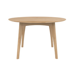 Oak Osso round dining table | Restaurant tables | Ethnicraft