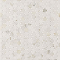 Manhattan Penny Round | Azulejos de pared de piedra natural | Claybrook Interiors Ltd.