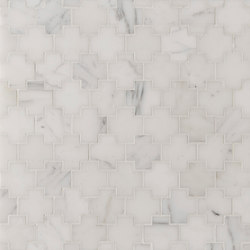 Manhattan Cross | Azulejos de pared de piedra natural | Claybrook Interiors Ltd.