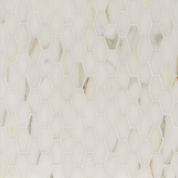 Manhattan Elongated Hexagon | Azulejos de pared de piedra natural | Claybrook Interiors Ltd.