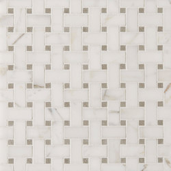 Manhattan Basketweave | Azulejos de pared de piedra natural | Claybrook Interiors Ltd.