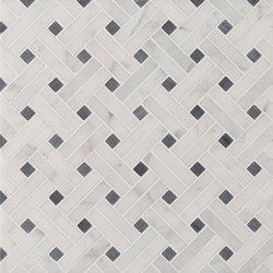 Manhattan Diagonal Weave | Azulejos de pared de piedra natural | Claybrook Interiors Ltd.