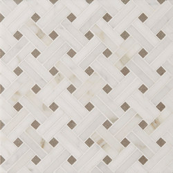 Manhattan Diagonal Weave | Natural stone tiles | Claybrook Interiors Ltd.