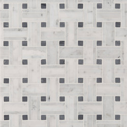 Manhattan Tri Weave | Azulejos de pared de piedra natural | Claybrook Interiors Ltd.