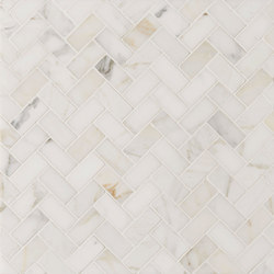 Manhattan Offset Herringbone | Naturstein Fliesen | Claybrook Interiors Ltd.