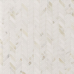 Manhattan Herringbone | Azulejos de pared de piedra natural | Claybrook Interiors Ltd.
