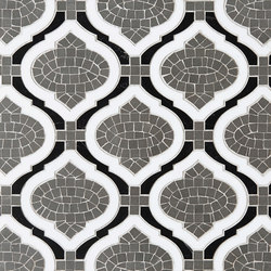 Marrakech Sofia Stone Mosaics | Azulejos de pared de piedra natural | Claybrook Interiors Ltd.