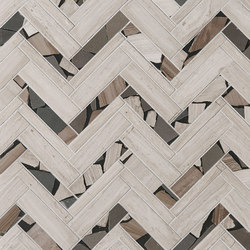 Safari Offset Herringbone | Azulejos de pared de piedra natural | Claybrook Interiors Ltd.