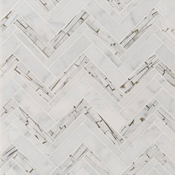 Safari Offset Herringbone | Natural stone wall tiles | Claybrook Interiors Ltd.