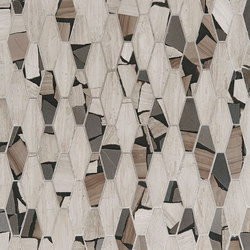 Safari Elongated Hex | Azulejos de pared de piedra natural | Claybrook Interiors Ltd.