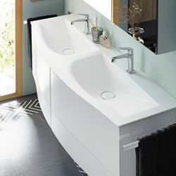Sinea 2.0 | Mineral cast washbasin incl. vanity unit | Vanity units | burgbad