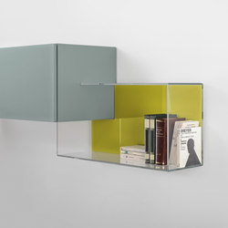 36e8 Glass_storage | Wall shelves | LAGO