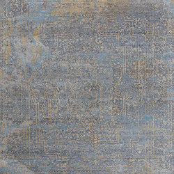 Elements Savonnerie gold blue grey | Rugs / Designer rugs | THIBAULT VAN RENNE