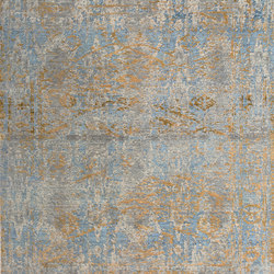 Elements Smoked leaf blue gold | Rugs / Designer rugs | THIBAULT VAN RENNE