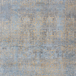 Elements Smoked transitional blue gold | Rugs / Designer rugs | THIBAULT VAN RENNE