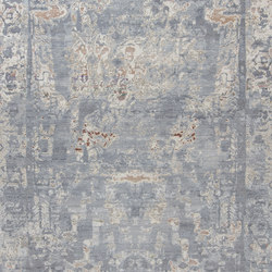 Elements V1 Aztec white grey | Rugs / Designer rugs | THIBAULT VAN RENNE