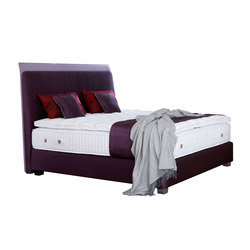 Camas Coleccion Platinum | Cabeceros Saint Germain violet | Double beds | Treca Interiors Paris