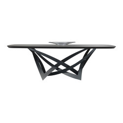 Infinito 72 Grafite Bevel Wood | Dining tables | Reflex