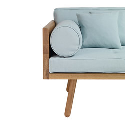 Day Bed One Bolster - Turnberry Teal Fabric | Seat cushions | Another Country