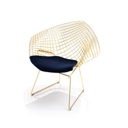 Bertoia Diamond Chair - Gold | Sillones | Knoll International