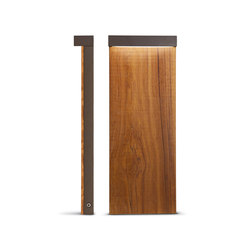 Look Wood Minilook bollard H 580 mm single emission | LED lights | Simes