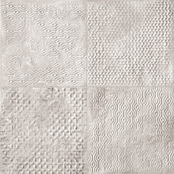Maku Grid White Inserto Mix 6 | Ceramic tiles | Fap Ceramiche