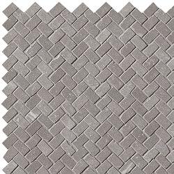 Maku Grey Gres Mosaico Spina Matt | Ceramic mosaics | Fap Ceramiche