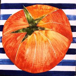 Pomodoro Fondo Righe | Carrelage pour sol | La Riggiola