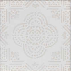 Madras Fondo bianco decoro beige | Carrelage pour sol | La Riggiola