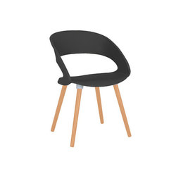 Foray Wood Leg Chair | Sillas de visita | ERG International