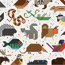 Designtex + Charley Harper - Space for All Species | Tissus muraux | Designtex