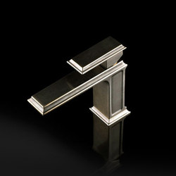 Gessi Fascino Single-Handle Brushed Nickel Faucet | Waschtischarmaturen | Gessi USA