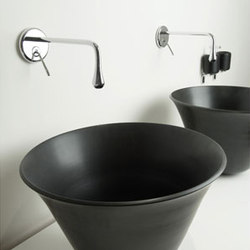 Gessi Goccia Wall-Mount Lav Faucet and Vessel Sink | Waschtischarmaturen | Gessi USA