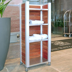 Audubon Custom Fixtures Rolling Cart | Bath shelving | DeepStream Designs