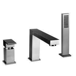 Gessi Rettangolo Roman Tub Set | Bath taps | Gessi USA