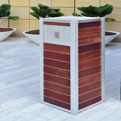 OPUS Trash and Recycling Bins | Bidoni per immondizia | DeepStream Designs