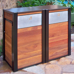 Opus & Oahu Recycling & Trash Receptacles | Bidoni per immondizia | DeepStream Designs