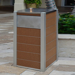 Opus & Oahu Recycling & Trash Receptacles | Poubelles | DeepStream Designs