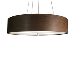 Wood Veneer Drum Pendant | Éclairage général | Donovan Lighting