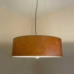 Wood Veneer Drum Pendant | Iluminación general | Donovan Lighting