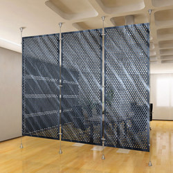 Metal Room Divider in Classic Metal Collection Perforated Aluminum | Space dividers | Moz Designs
