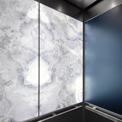 Elevator Interiors | Metal wall tiles | Forms+Surfaces®