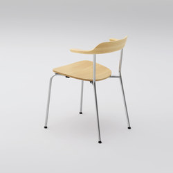 Hiroshima Arm chair stackable (wooden seat) | Sedie visitatori | MARUNI