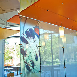 Decorative Partition Hardware | Glass holders | Gyford StandOff Systems®