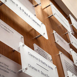 Donor Wall Panel System | Sign holders | Gyford StandOff Systems®