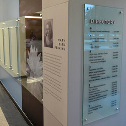 Glass Panel Donor Display | Glass holders | Gyford StandOff Systems®