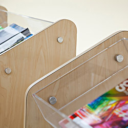 Magazine Rack Hardware | Display stands | Gyford StandOff Systems®
