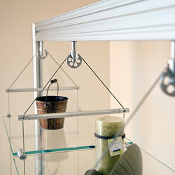 Suspended Shelving | Furniture cable systems | Gyford StandOff Systems®